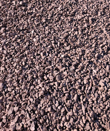 Photo: Barn Red Gravel Pile
