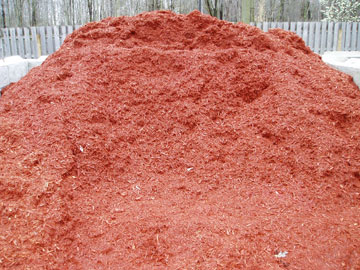 Photo: Timber Ridge Red Wood Mulch Pile