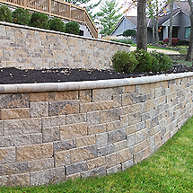 Retaining Walls: Non-Weathered Versa-Lok Mosaic