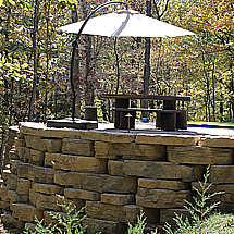 Retaining Walls: Rosetta Outcropping