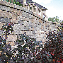 Retaining Walls: Weathered Versa-Lok Mosaic