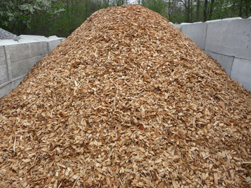 Photo:  Wood chip pile